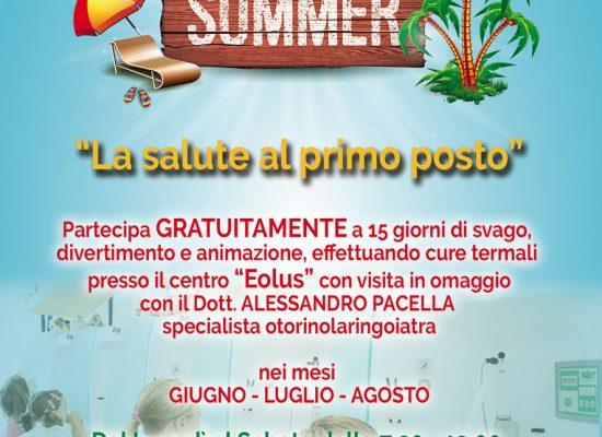 """'La salute al primo posto', ecco """"Eolus Summer"""": agevolazioni per gli associati"""